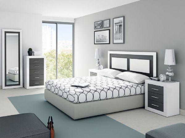 Dormitorio de matrimonio for Dormitorios modernos en blanco y plata