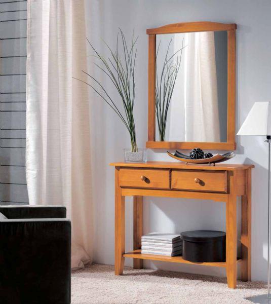 Muebles de entrada for Muebles de pino color miel