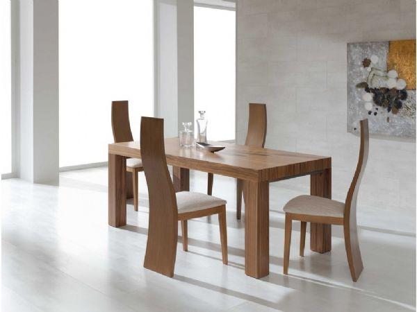 Conjuntos mesa de comedor sillas for Modelos de sillas de madera modernas